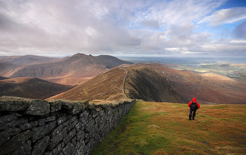 Panoramic view of the Silent Valley National Park, one of the hottest spots of the Mountains of Mourne.