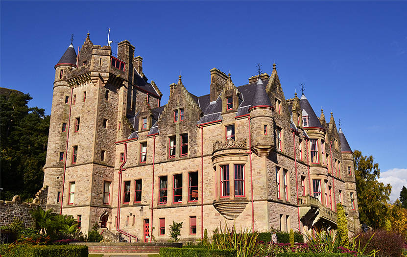 The Belfast Castle, in Cave Hill Country Park, offers the best views of the city.