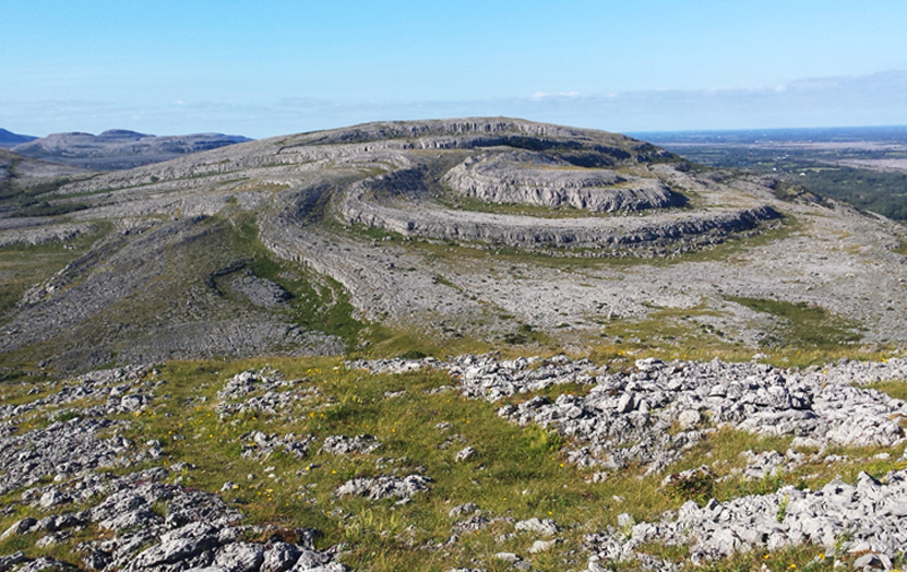 The Burren National Park, a karstic terrain that, in turn, is an outdoor museum.