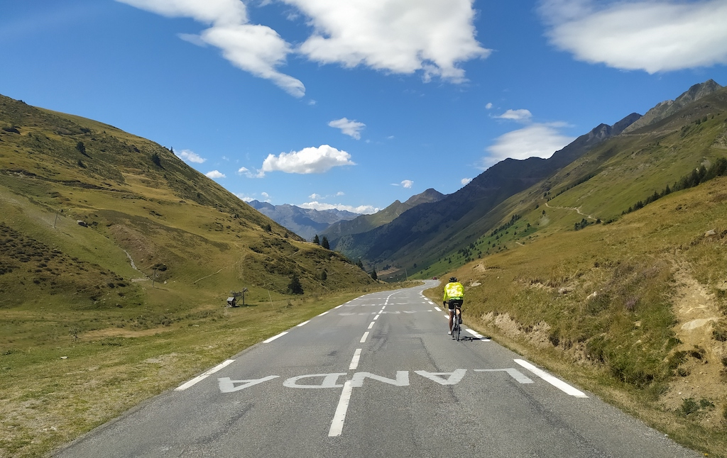 The road between Luz-Saint Sauveur and the Col du Tourmalet, one of the most famous mountain passes in the Tour of France.