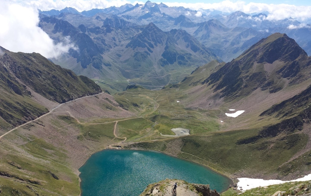 The scenery from the last leg of the trail towards the Pic du Midi de Bigorre, in the French Pyrenees.