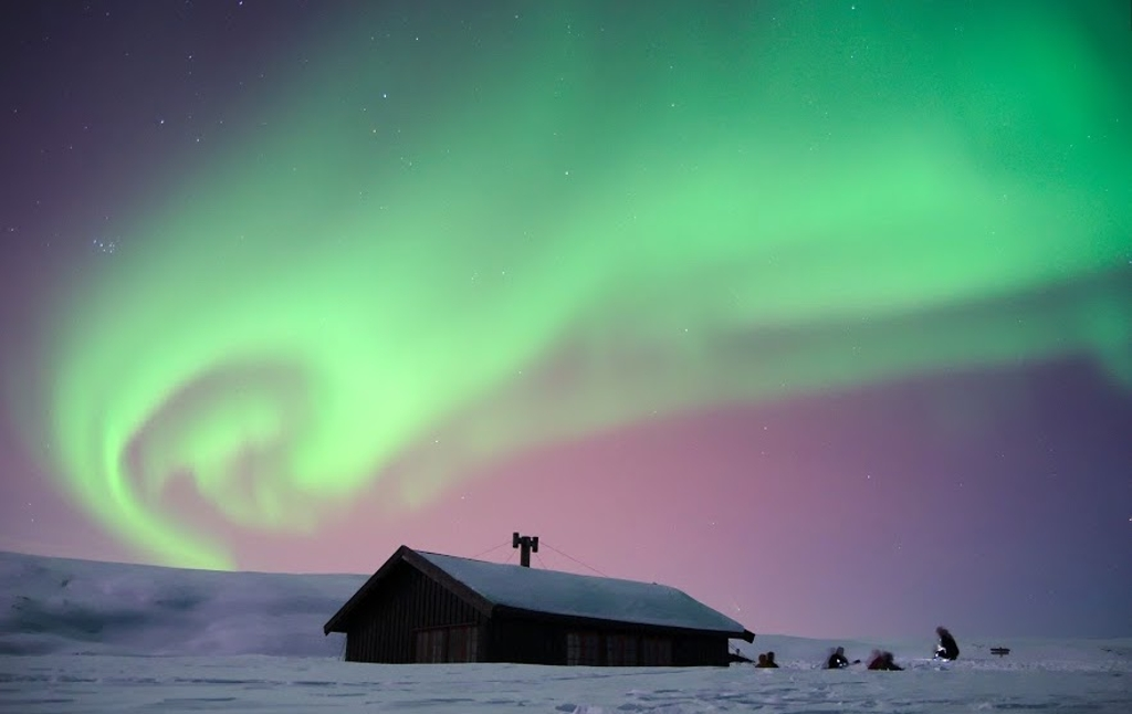 A typical home in a Norweigan fjord near Tromsø, one of the best places on the planet to see the stars and the Northern Lights.