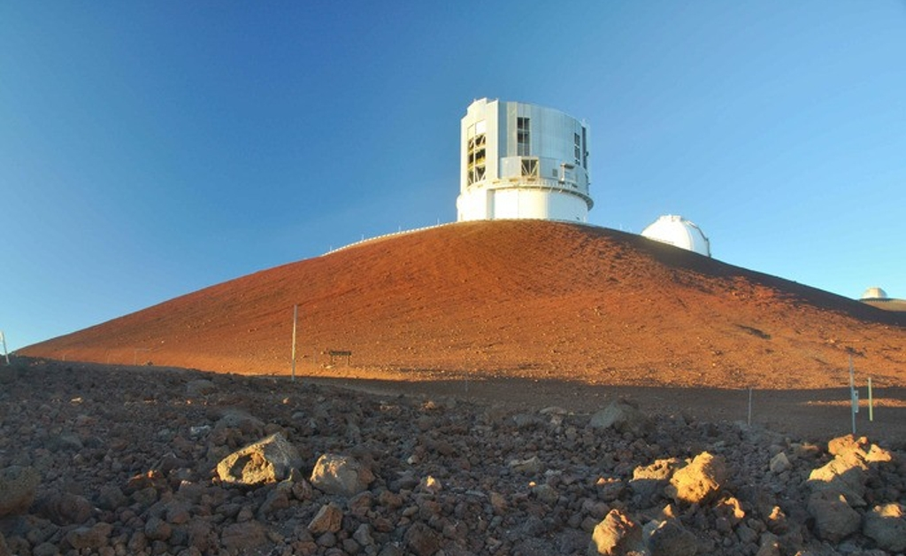 The Mauna Kea astronomical observatories, located on a dormant volcano on the island of Hawaii.